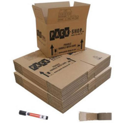 40 Budget Moving Boxes Pack