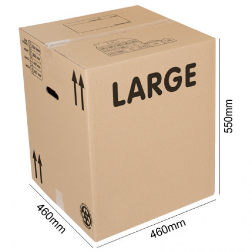 Large cardboard boxes