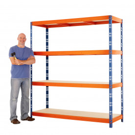 Max 1 Heavy Duty Shelving 2000 H x 1800 W x 1200 D