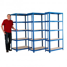 Blue Value Shelving 300mm