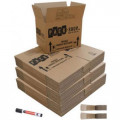 60 Budget Moving Boxes Pack