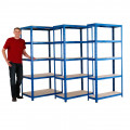 Blue Value Shelving 600mm