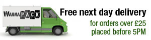 Free Next Day Delivery          For Order Over £25 Placed Before 5pm